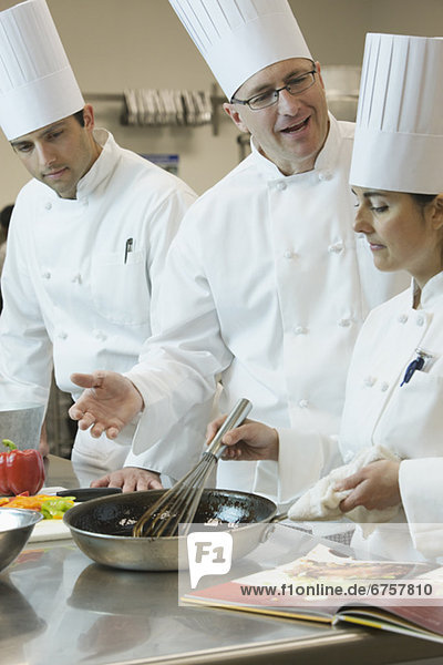 kochen  Technik  unterrichten  Köchin