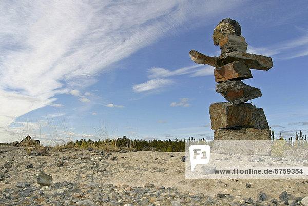 Außenaufnahme  folgen  Entdeckung  vorwärts  Inuksuk  Northwest Territories