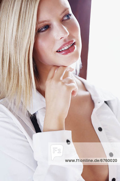 blond  Frau  Versuchung