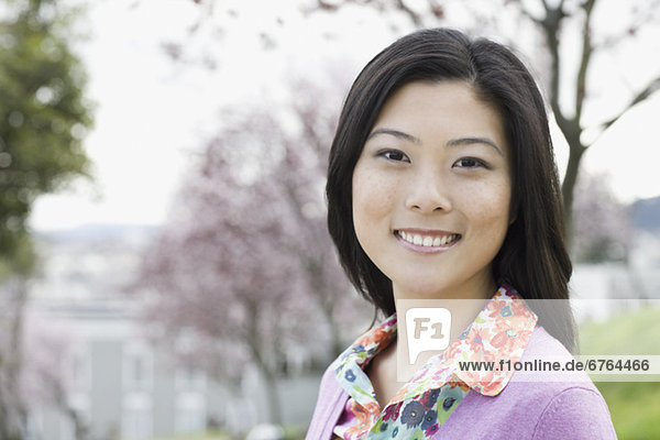 Young woman in park  portrait