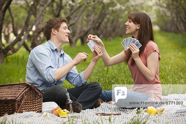 Vereinigte Staaten von Amerika  USA  Picknick  Karte  jung  Obstgarten  spielen  Utah