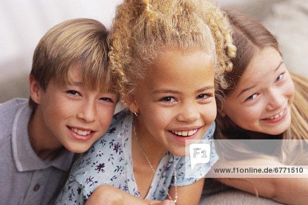 Portrait von drei Kindern