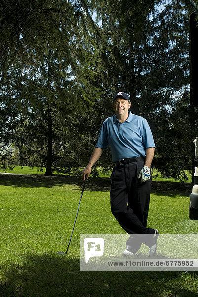 Portrait  Mann  Golfsport  Golf  Laval  Quebec  Kurs  Quebec
