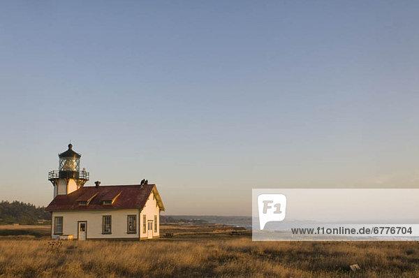 USA  California  small lighthouse