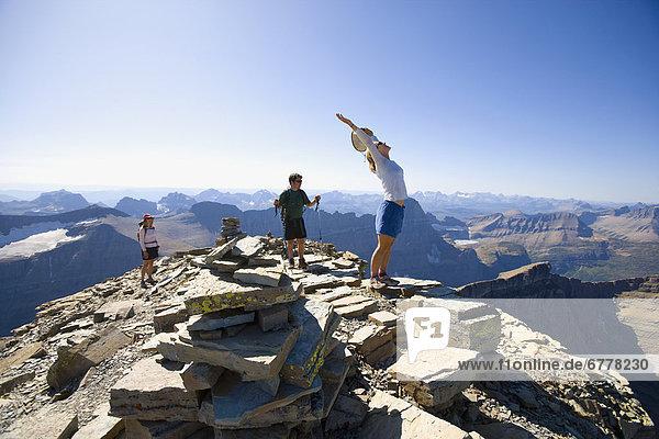 Vereinigte Staaten von Amerika  USA  Berg  hoch  oben  wandern  Glacier Nationalpark