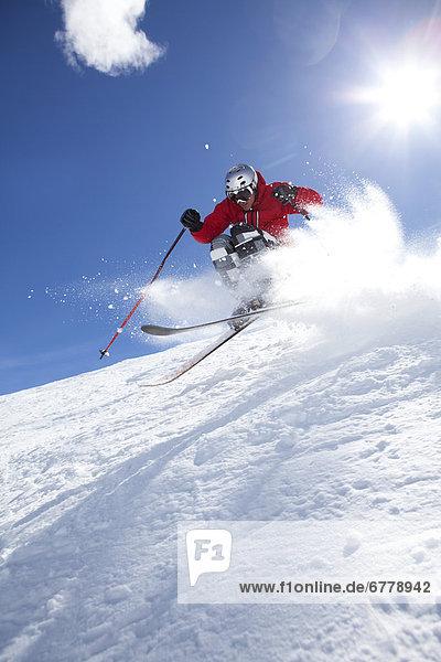 Vereinigte Staaten von Amerika  USA  Skiabfahrt  Abfahrt  Colorado  Telluride