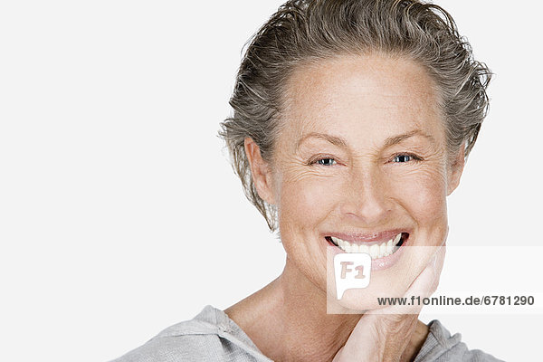 Studio Portrait of ältere Frau