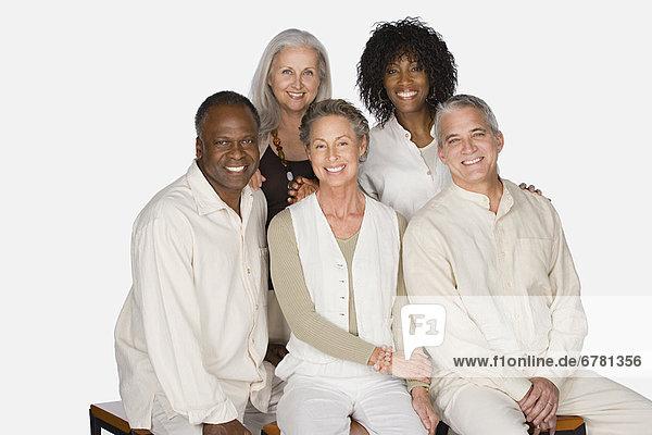 Senior  Senioren  Portrait  Freundschaft  Studioaufnahme