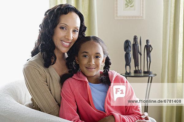 Portrait  Tochter  10-11 Jahre  10 bis 11 Jahre  Mutter - Mensch