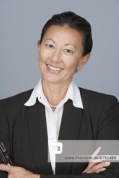 Portrait  Geschäftsfrau  Fröhlichkeit  reifer Erwachsene  reife Erwachsene