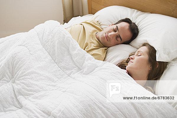 Schlafende paar
