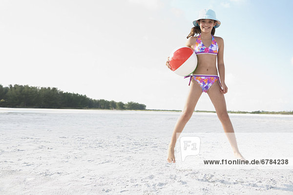 Strand  springen  Ball Spielzeug  Mädchen