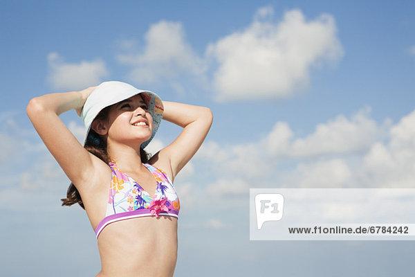 sehen  Bikini  Himmel  Sonnenlicht  Mädchen