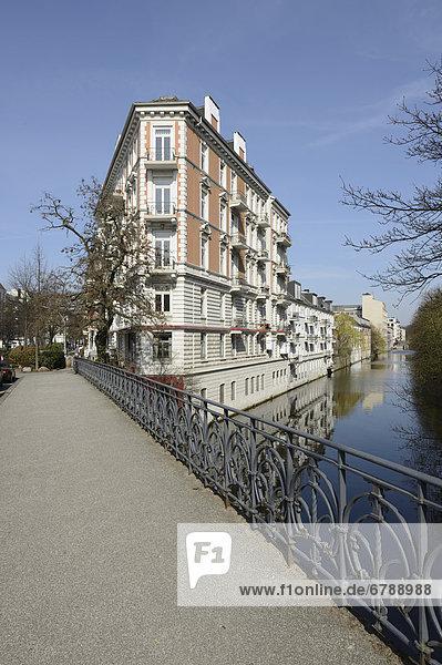 Jugendstilgebäude am Isebekkanal  Hoheluft  Hansestadt Hamburg  Deutschland  Europa
