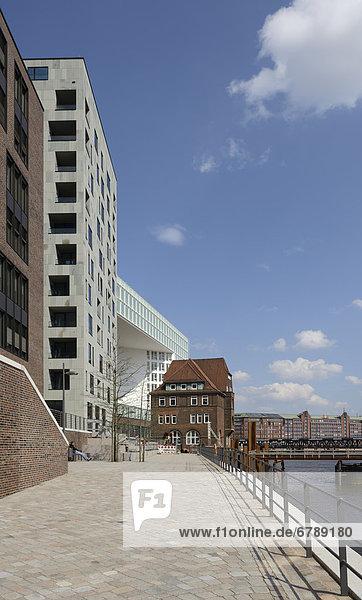 Bürogebäude Germanische Lloyd  Ericus-Contor  und altes Zollamt Teerhof  HafenCity  Hansestadt Hamburg  Deutschland  Europa