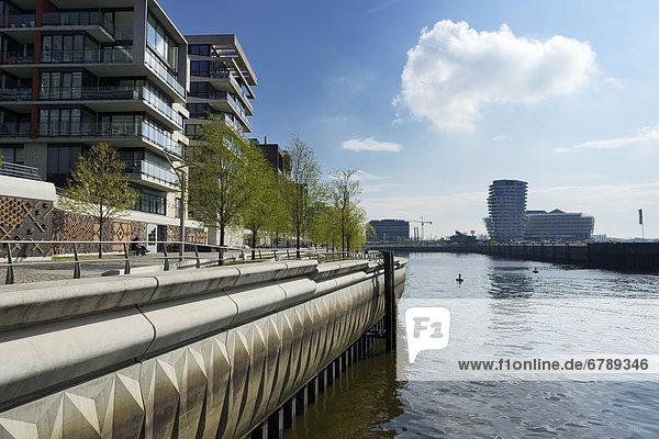 Europa Gebäude Nachbarschaft Ansicht Hamburg - Deutschland Dalmannkai Deutschland Grasbrookhafen HafenCity