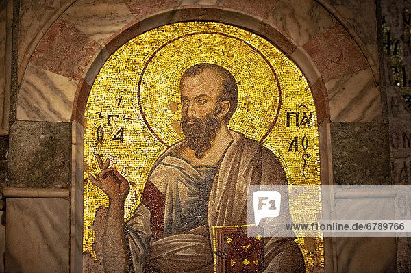 Mosaik von Paulus  Esonarthex  Chora-Kirche oder Kariye Camii  Istanbul  Türkei