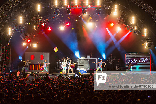 American electro-hop band LMFAO performing live at Heitere Open Air in Zofingen  Aargau  Switzerland  Europe