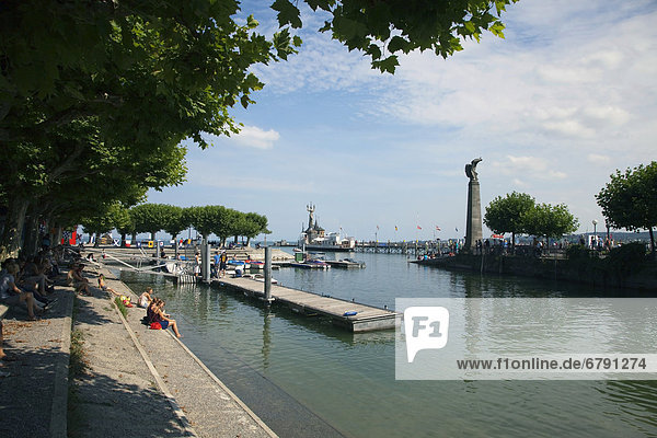 Harbour entrance of Konstanz on Lake Constance  Baden-Wuerttemberg  Germany  Europe  PublicGround