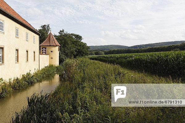 Ehemalige Burganlage  Schloss Hünnefeld bei Bad Essen  Osnabrücker Land  Niedersachsen  Deutschland  Europa