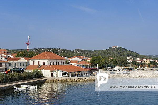 Ort und Hafen Tkon  Insel Pasman  Adria  Zadar  Dalmatien  Kroatien  Europa