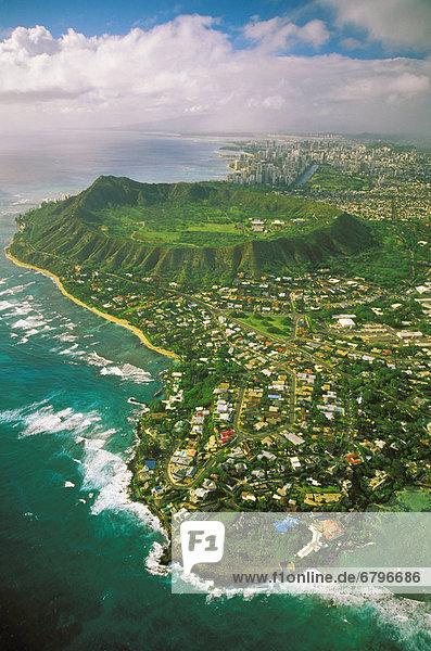 Wohnhaus Küste Krater Fernsehantenne Diamant Hawaii Oahu