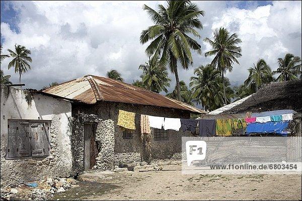 Hütte waschen Afrika Linie Sansibar