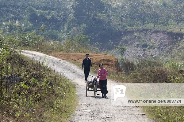 Mensch  Menschen  gehen  Dreirad