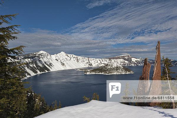 Winter  über  See  Ansicht  Krater