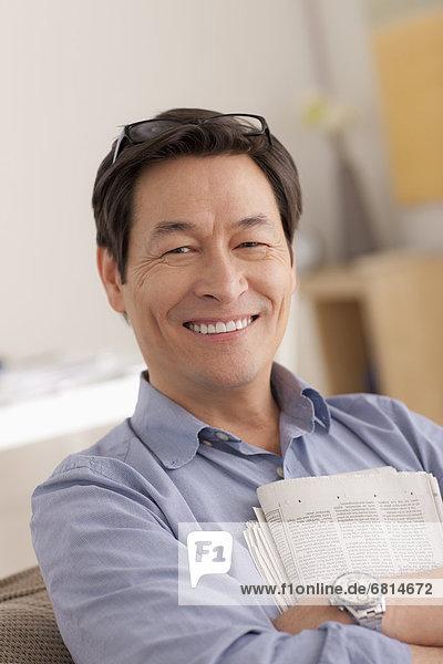 Portrait Mann lächeln