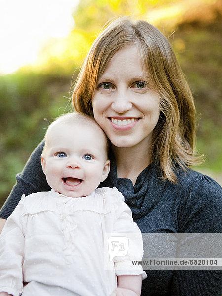 Portrait  Tochter  Mutter - Mensch