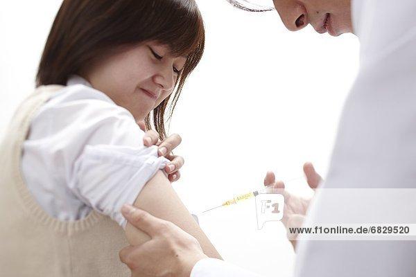 Frau  Impfung  jung