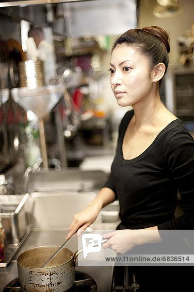 kochen  Frau  Küche  Restaurant  jung