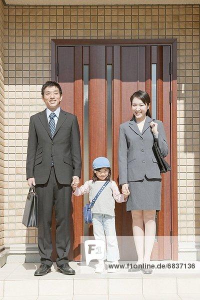 stehend Wohnhaus frontal Hyogo