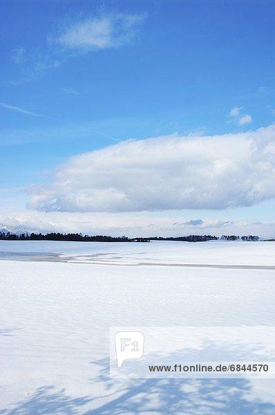 Himmel  Schnee  Feld  blau  Nagano  Japan