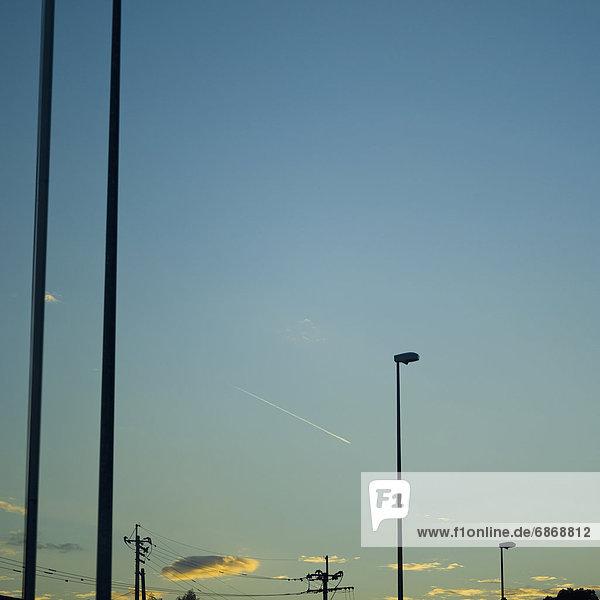 Abend  Silhouette  Himmel  Straßenlaterne  Laterne