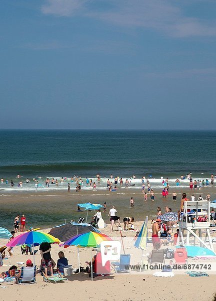 Truro  Massachusetts - The crowded Head of the Meadow Beach in Cape Cod National Seashore