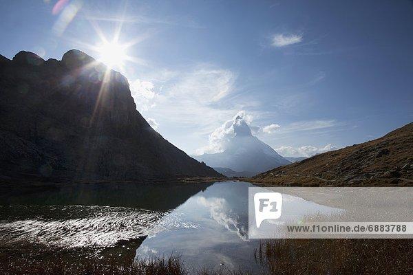 Europa Westalpen Schweiz Zermatt Kanton Wallis Schweizer Alpen