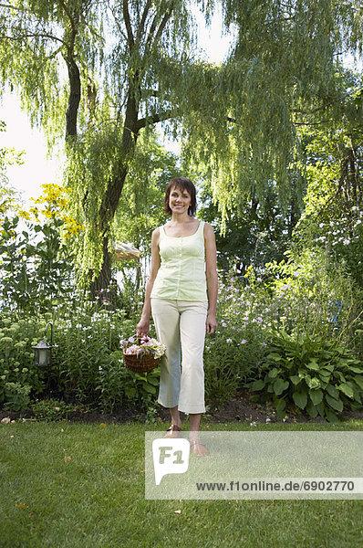 Portrait of Woman in Garden