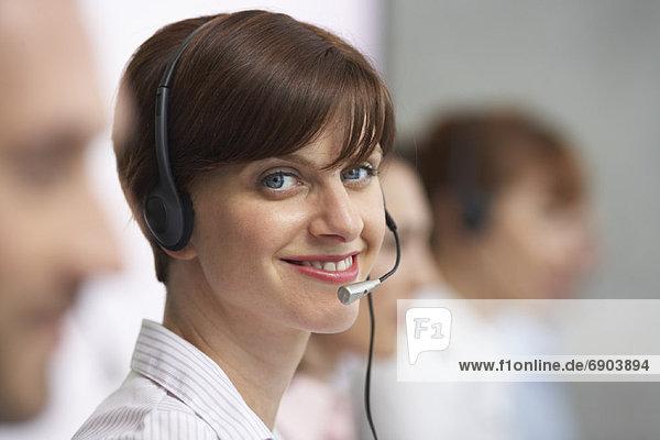 Geschäftsfrau Headset