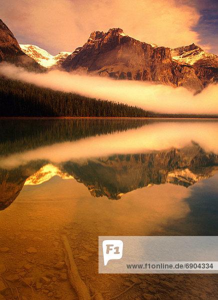 Sonnenaufgang  See  britisch  Kanada  Smaragd