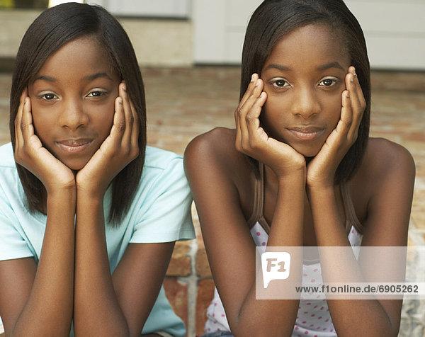 Portrait of Twin Sisters