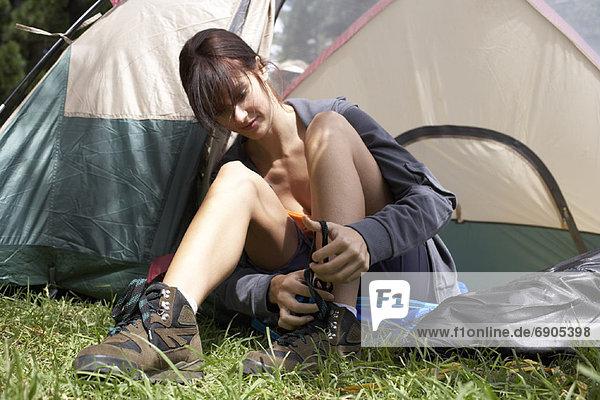 Frau Camping