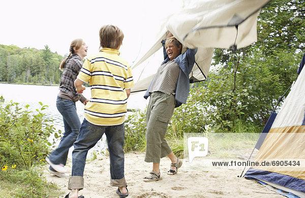 Campingplatz  Mutter - Mensch