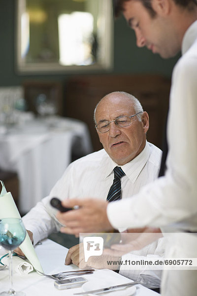 Geschäftsmann  Restaurant