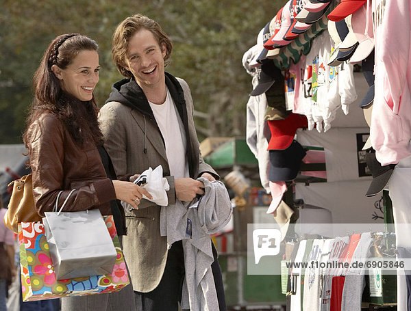 Couple Shopping Together  New York City  New York  USA