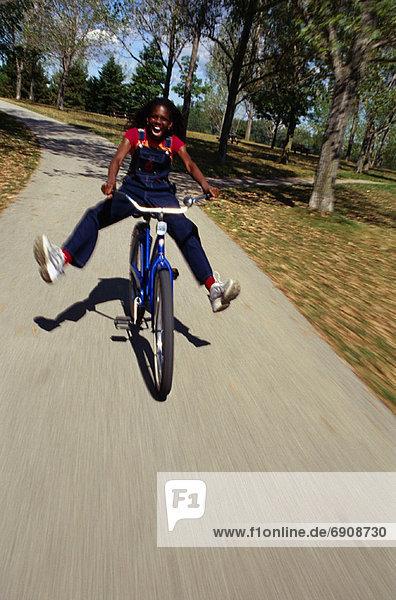 fahren  Weg  Fahrrad  Rad  Mädchen