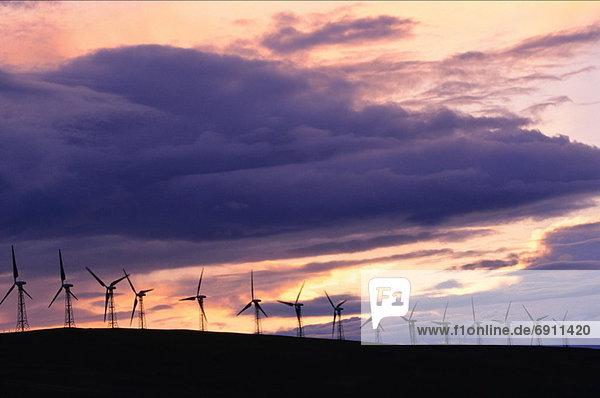 Windturbine Windrad Windräder Pincher Creek Alberta Alberta Kanada
