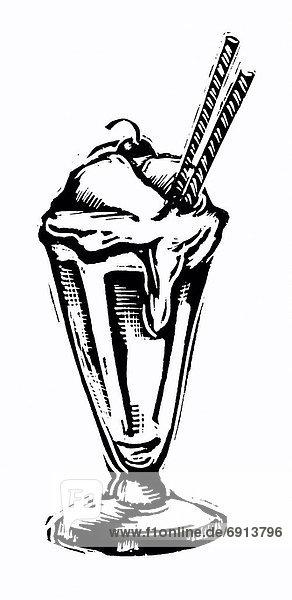 Illustration  Eisbecher