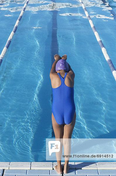 Schwimmbad Mädchen